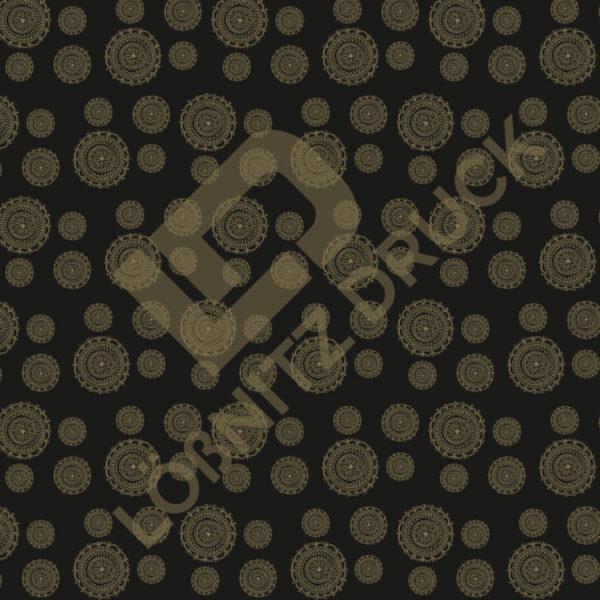 Bastelpapier Black and Gold Bohemian Muster 05