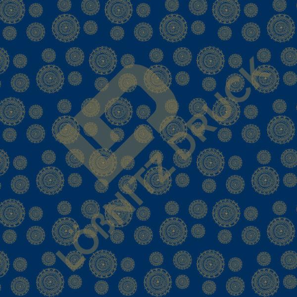 Bastelpapier Blue and Gold Bohemian Muster 05