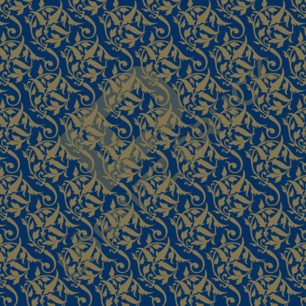 Bastelpapier Blue and Gold Bold Muster 02
