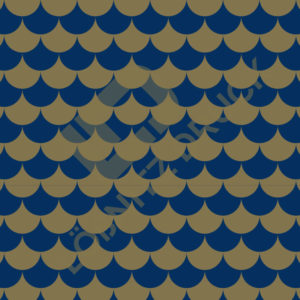 Bastelpapier Blue and Gold Bold Muster 04