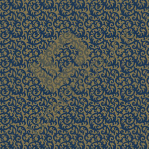 Bastelpapier Blue and Gold Bold Muster 06