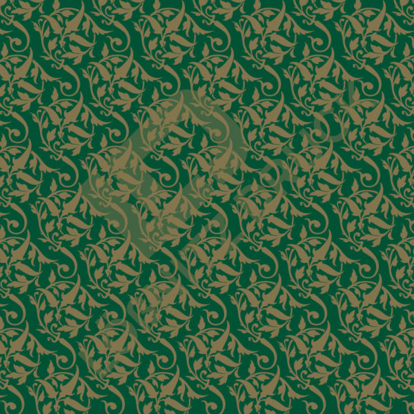 Bastelpapier Green and Gold Bold Muster 02