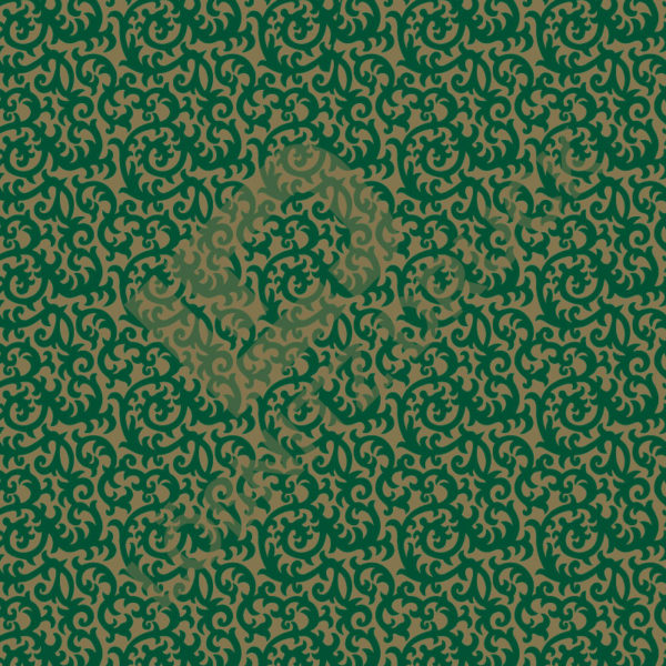 Bastelpapier Green and Gold Bold Muster 06
