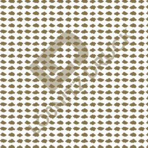 Bastelpapier White and Gold Bold Muster 05