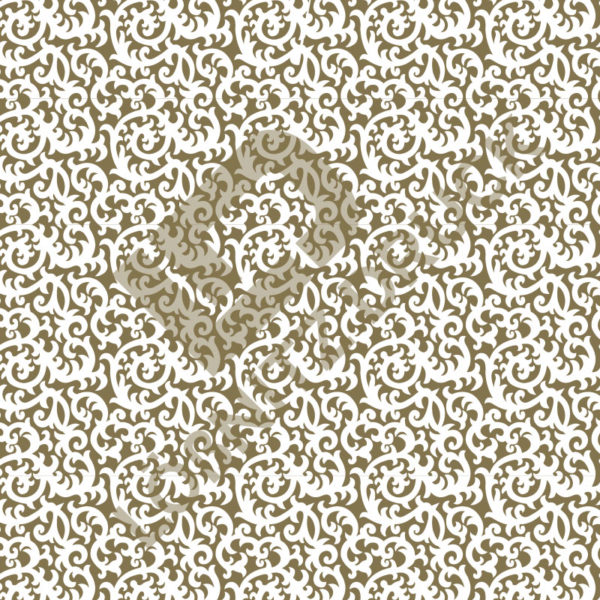 Bastelpapier White and Gold Bold Muster 06