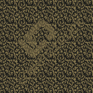 Bastelpapier Black and Gold Floral Muster 01
