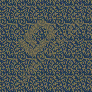 Bastelpapier Blue and Gold Floral Muster 01