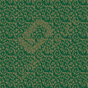 Bastelpapier Green and Gold Floral Muster 01