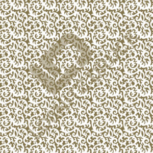 Bastelpapier White and Gold Floral Muster 01