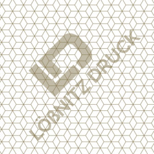 Bastelpapier White and Gold Geometric Muster 01