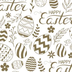 Platzdeckchen Motiv Ostern, gold