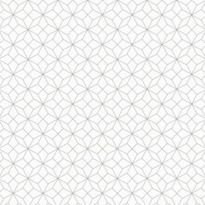 Platzdeckchen Geometric Metalleffekt silber