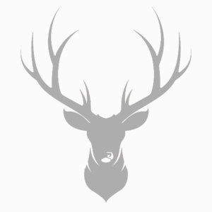 Platzdeckchen mit Metalleffekt, silber – Hirsch