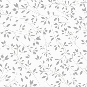 Platzdeckchen Floral Metalleffekt silber