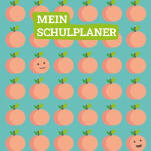 Cover des Hausaufgabenheftes Pfirsiche