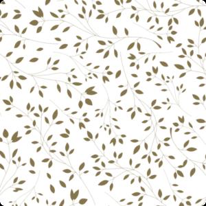 Untersetzer Floral Metalleffekt gold